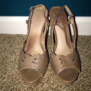 Laser cut and cork heels!